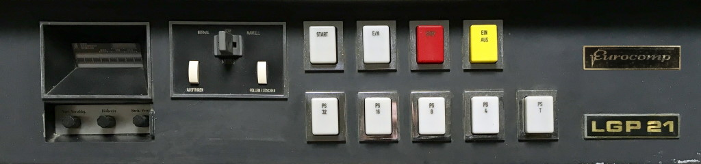Control panel of Schoppe & Faeser's version of the LGP-21
